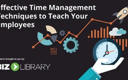 WEBINAR:  Effective Time Management Techniques