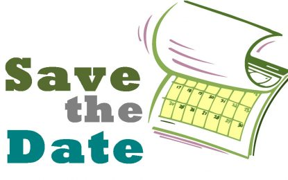 Save the Date for 2020 Events!