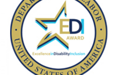 DOL Excellence in Disability Inclusion Award